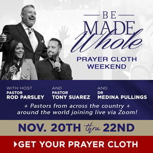 Be Made Whole Again Prayer Cloth