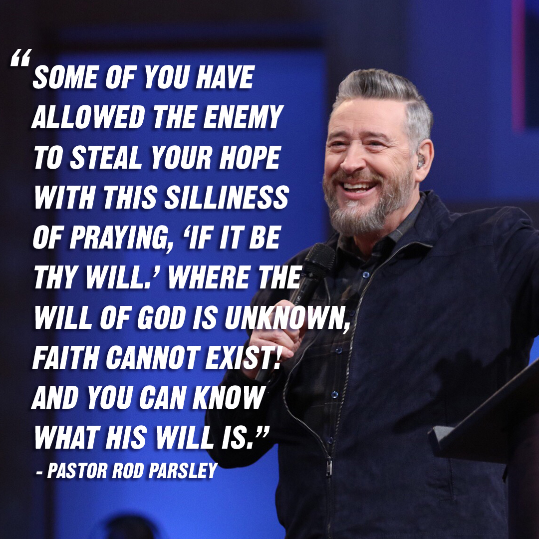 """The promises of God are Yes and Amen, or 'So be it.' What's the 'So be it?' Somebody getting in agreement with what God said. Whatever you're asking Him, He said, 'Yes!'"" – Pastor Rod Parsley"