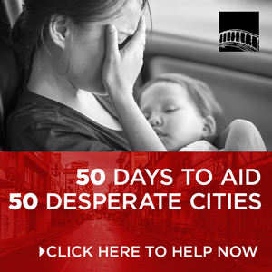 50 days to aid 50 desperate cities